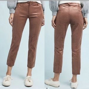 Anthropologie The Essential Slim Velvet Trousers